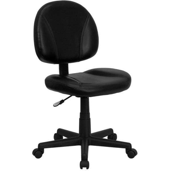 Flash Furniture Mid-Back Leather Ergonomic Task Chair
