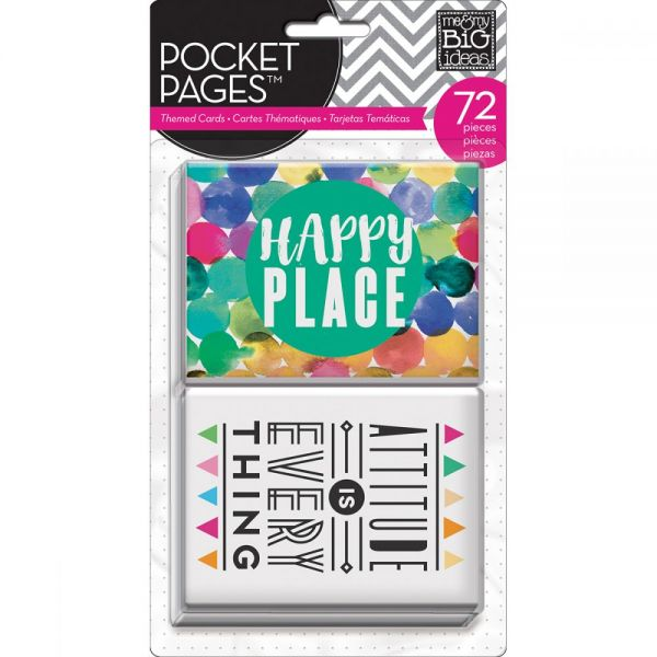 Me & My Big Ideas Pocket Pages Themed Cards 72/Pkg