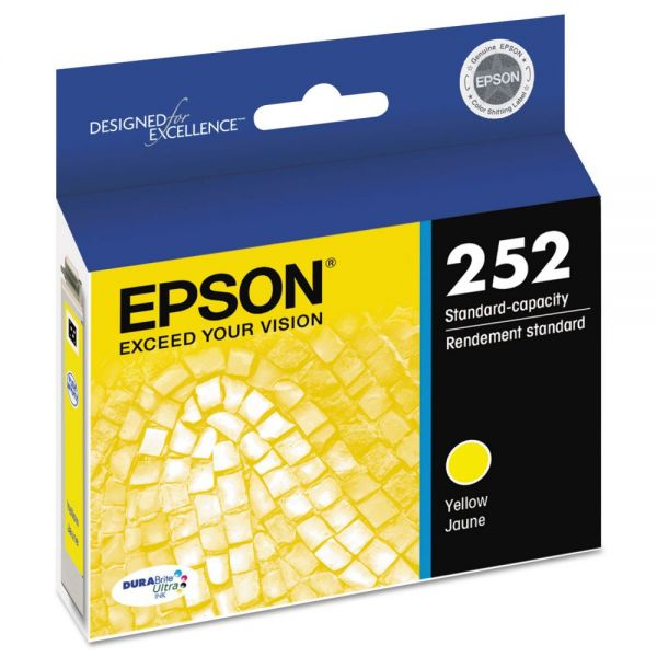 Epson 252 DURABrite Ultra Yellow Ink Cartridge (T252420)