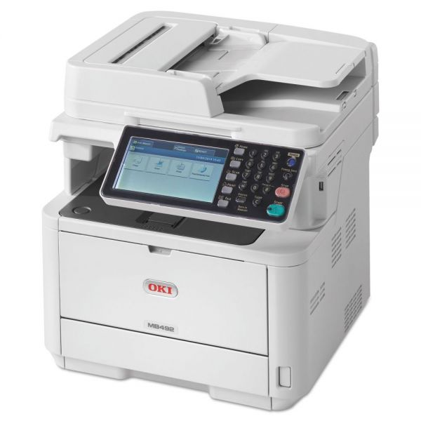 Oki MB492 Monochrome Wireless Multifunction Laser Printer,  Copy/Fax/Print/Scan