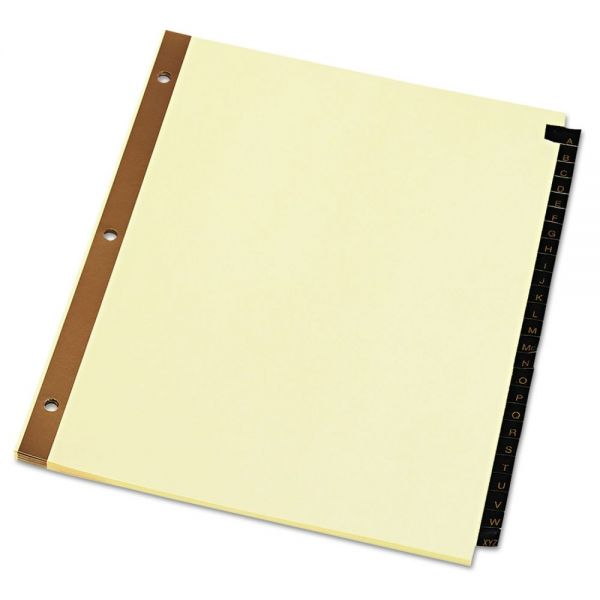 Universal One Leather-Look Alphabet Tab Index Dividers