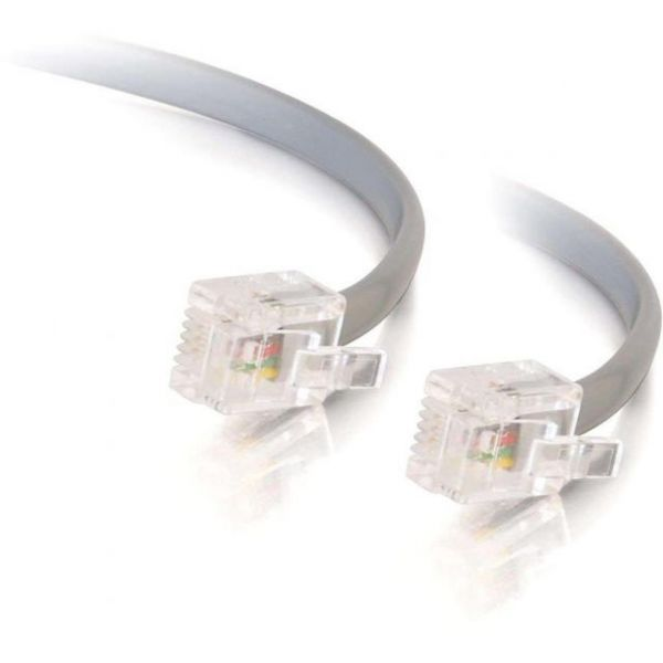 C2G 14ft RJ12 Modular Telephone Cable