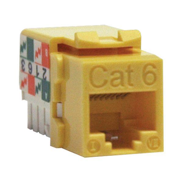 N238-001-YW Cat6 110-punch Down Keystone Jack