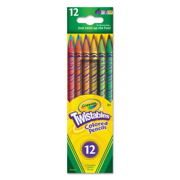 Crayola Twistables Colored Pencils, 12 Assorted Colors/Set