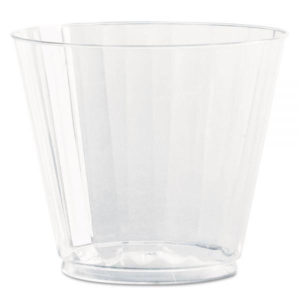 WNA Classic Crystal 9 oz Fluted Plastic Tumblers