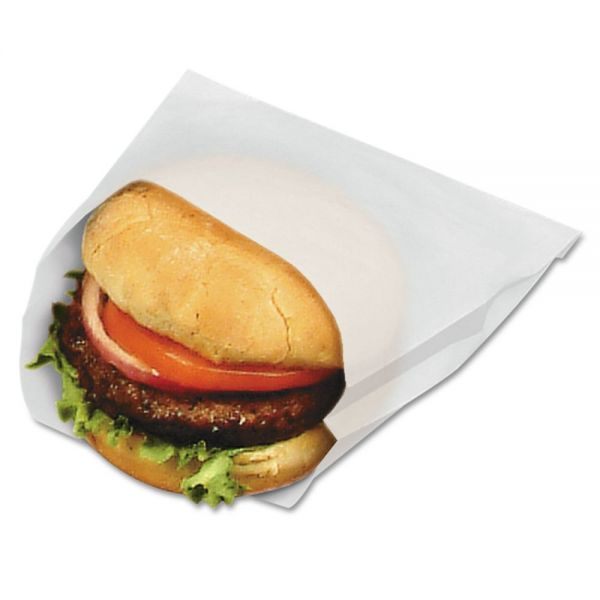Bagcraft Papercon PB18/8 Grease-Resistant Sandwich Bags
