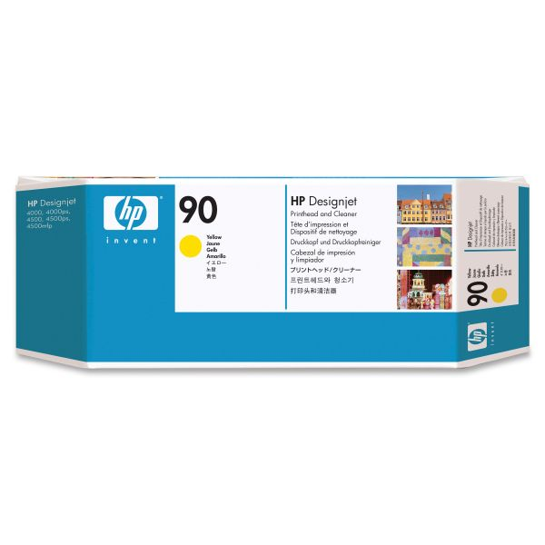 HP 90 Yellow Printhead & Cleaner (C5057A)