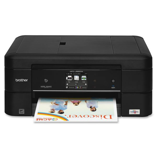 Brother Work Smart MFC-J885DW Color Wireless Inkjet All-in-One, Copy/Fax/Print/Scan