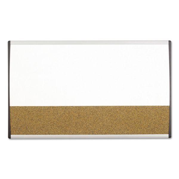Quartet Magnetic Dry-Erase/Cork Board, 18 x 30, White Surface, Silver Aluminum Frame