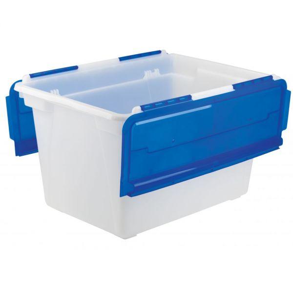 Storex Flip-Top Storage Tubs