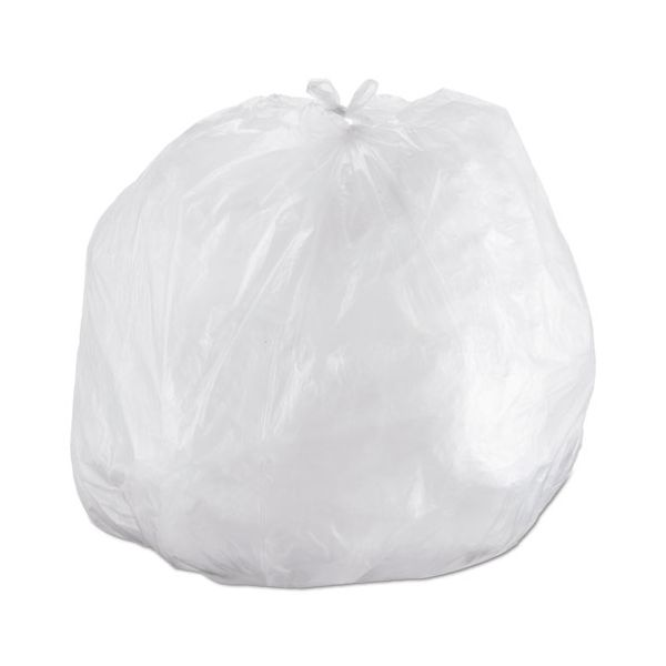 Inteplast Group Interleaved High-Density Can Liners, 60gal, 43 x 48, 14mic, Natural, 200/CT