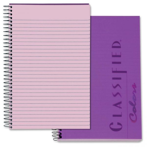 TOPS Color Notebook, Narrow, 8 1/2 x 5 1/2, Orchid, 100 Sheets
