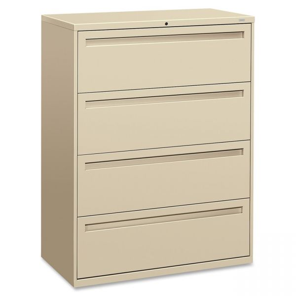 HON 700 Series 4 Drawer Locking Lateral File Cabinet
