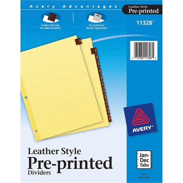 Avery Monthly Tab Index Dividers