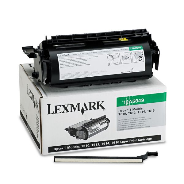 Lexmark 12A5849 Black High Yield Return Program Toner Cartridge