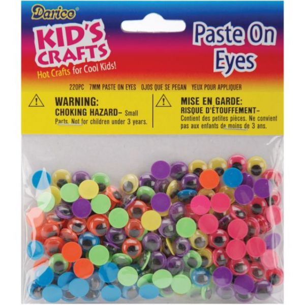 Paste-On Wiggle Eyes 7mm 220/Pkg