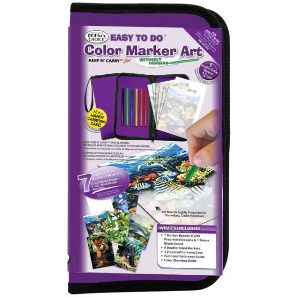 Big Kid's Choice Easy To Do Color Marker Art Keep N' Carry Set