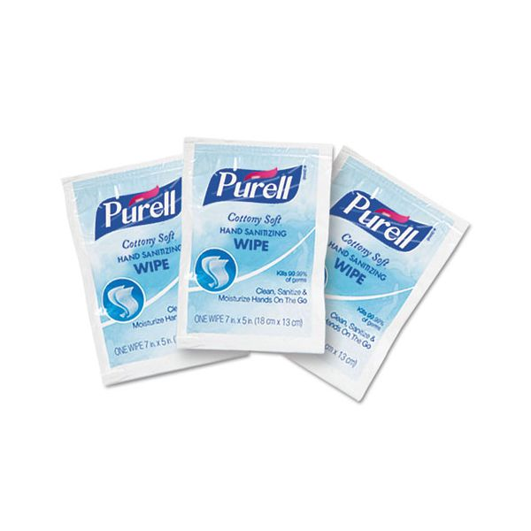 PURELL Cottony Soft Individually Wrapped Sanitizing Hand Wipes
