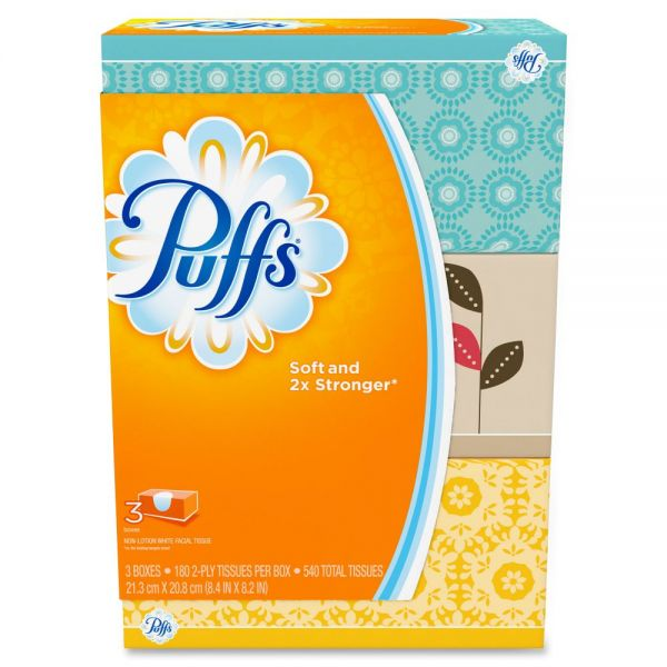 Puffs Basic 2-Ply Facial Tissues