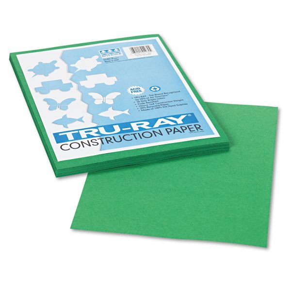 Tru-Ray Green Construction Paper