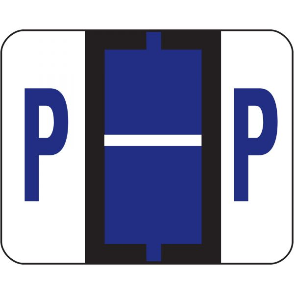 Smead BCCR Bar-Style Color-Coded Alphabetic Label - P