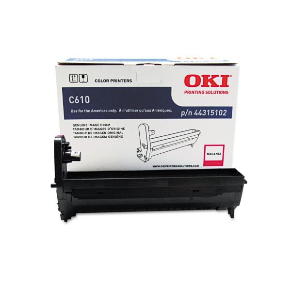 Oki 44315102 Drum, 20,000 Page-Yield, Magenta