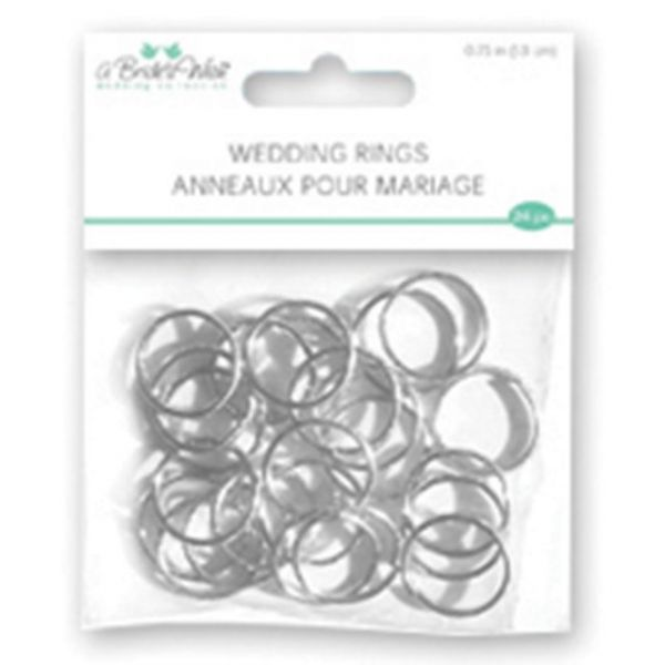 "Wedding Rings .75"" 24/Pkg"