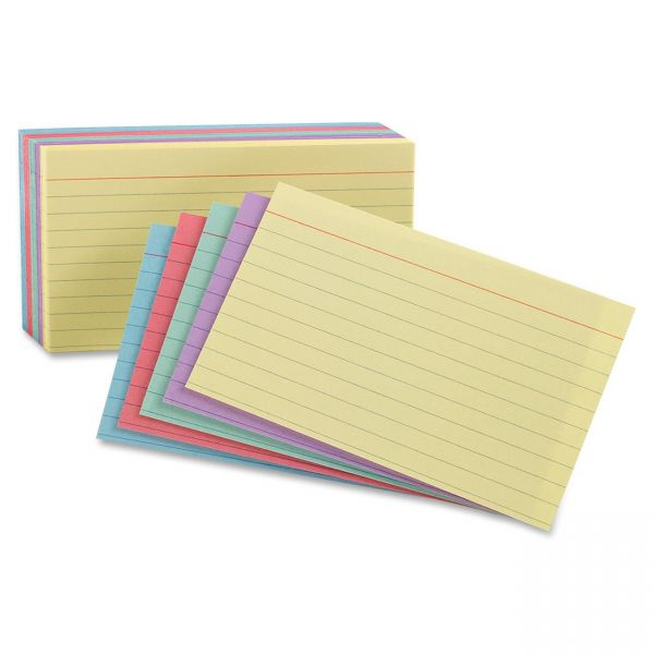 """Oxford 4"""" x 6"""" Ruled Index Cards"""