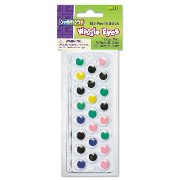 Creativity Street Peel 'N Stick Wiggle Eyes Assortment Pack