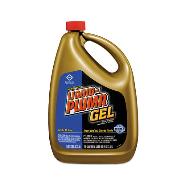 Liquid Plumr Heavy-Duty Clog Remover, Gel, 80oz Bottle