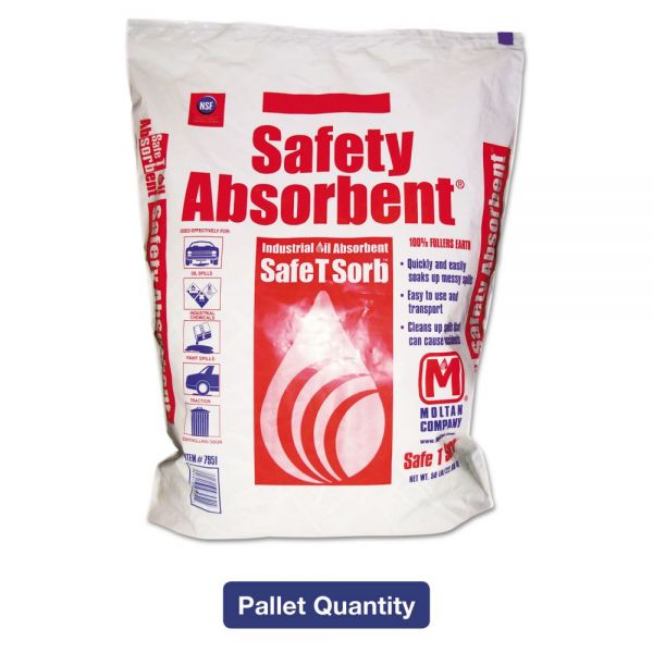 Safe T Sorb All-Purpose Clay Absorbent, 50lb, Poly-Bag, 40/Pallet