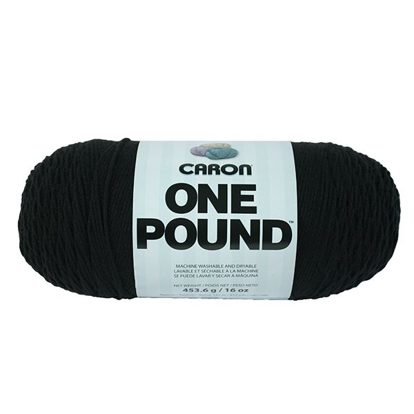 Caron One Pound Yarn - Black