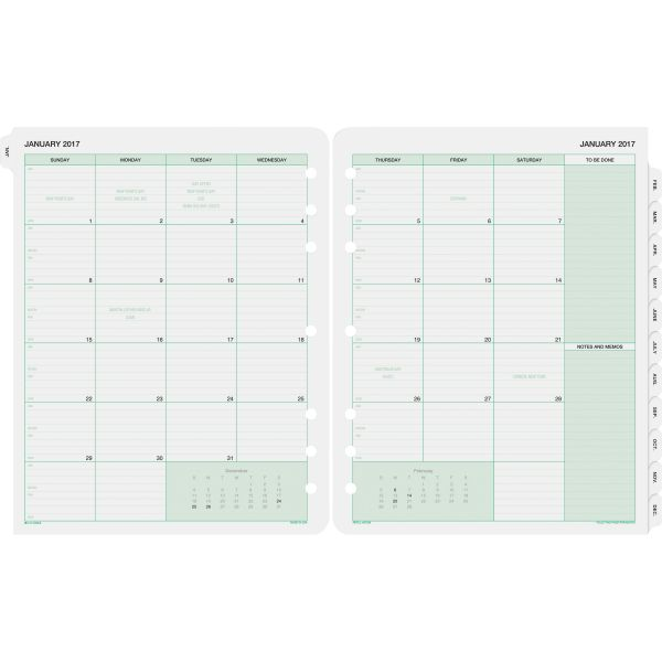 Day-Timer 2PPM Planner Binder Monthly Refills