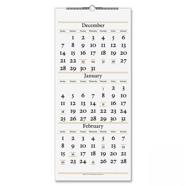 At-A-Glance 3-Month Reference Wall Calendar