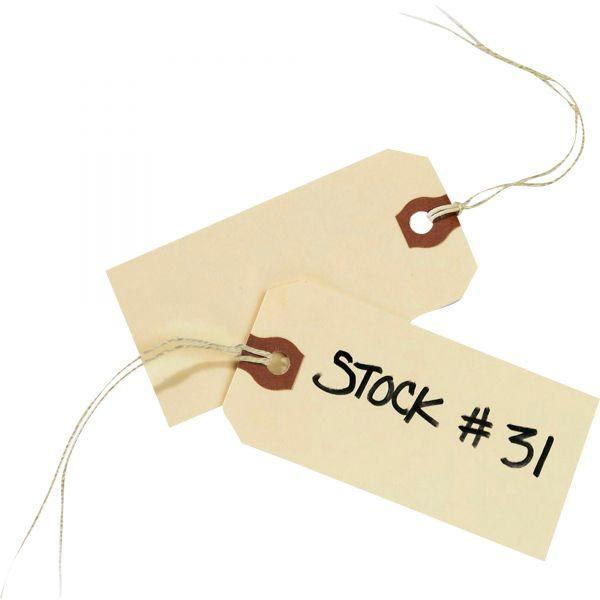 Avery Strung Shipping Tags, 13pt. Stock, 3 3/4 x 1 7/8, Manila, 1,000/Box