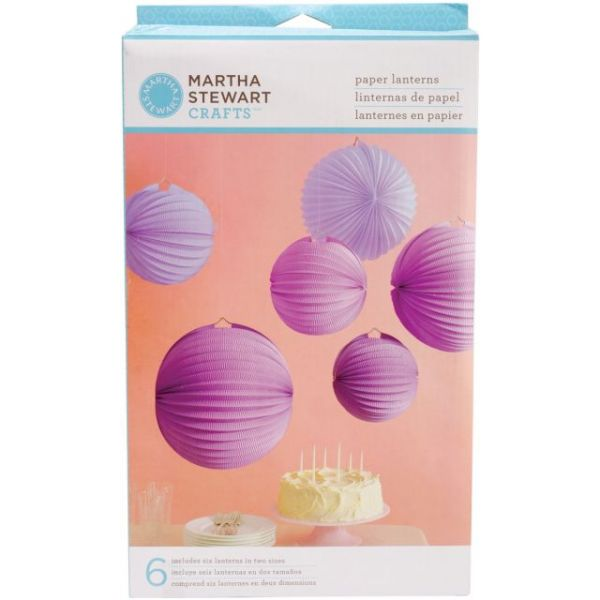 Martha Stewart Accordion Lantern 6/Pkg