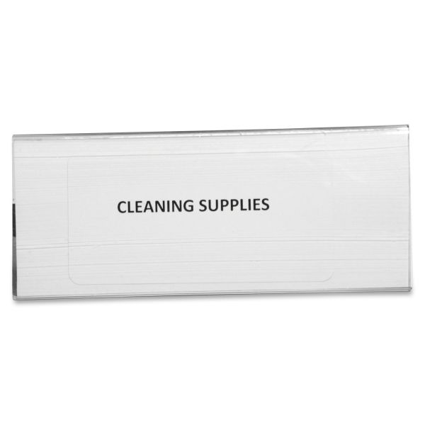 Panter Company Clear Magnetic Label Holders, 6 x 2 1/2, Clear, 10 per Pack
