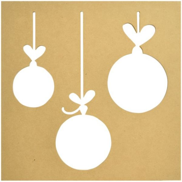 Beyond The Page MDF Baubles Silhouette Wall Art Frame