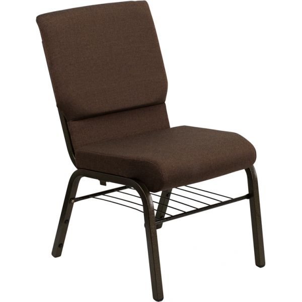 Flash Furniture Brown Fabric Big & Tall Church Chair