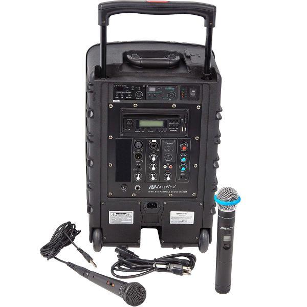 AmpliVox Titan Wireless Portable PA System, 100W Amp
