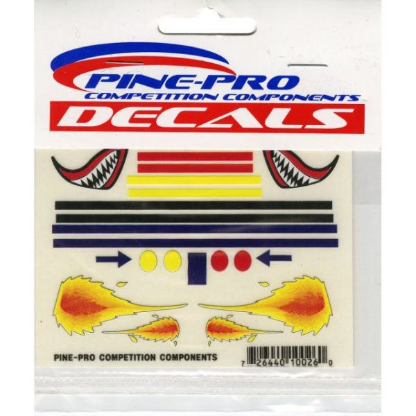 "Pine Car Derby Mini Decal 3""X4"""