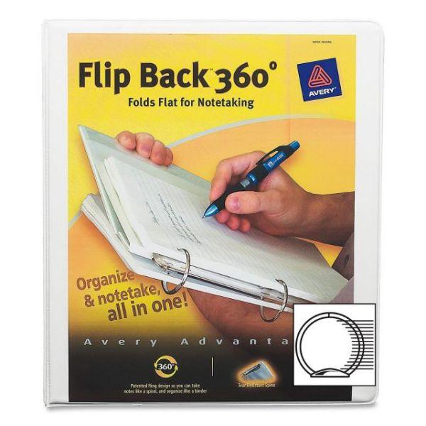 "Avery Flip Back 360° 1"" 3-Ring View Binder"