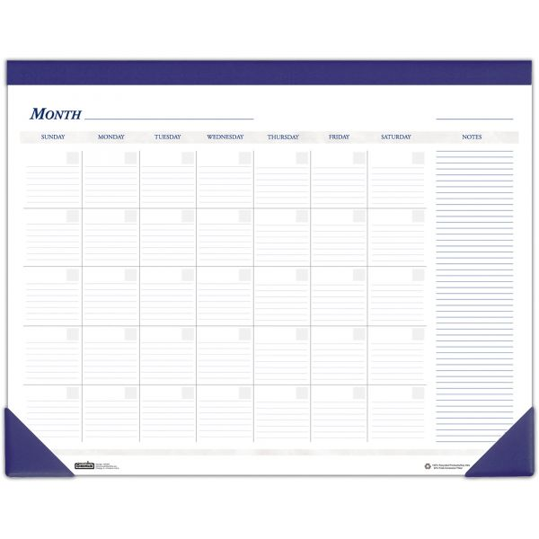 House of Doolittle Nondated Monthly Desk Pad Calendar