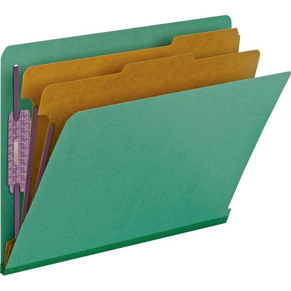 Smead End Tab Pressboard Classification Folders with SafeSHIELD Fasteners