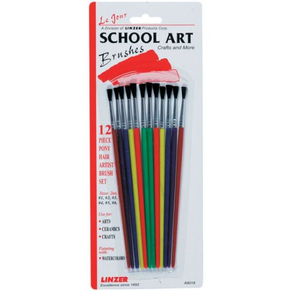 Pony Hair School Art Brush Set