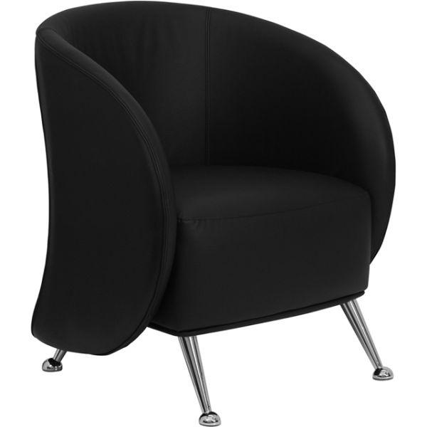Flash Furniture Jet Series Black Leather Reception Chair