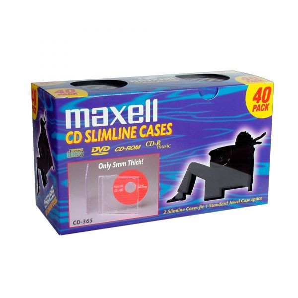 Maxell CD-365 Slimline Jewel Cases