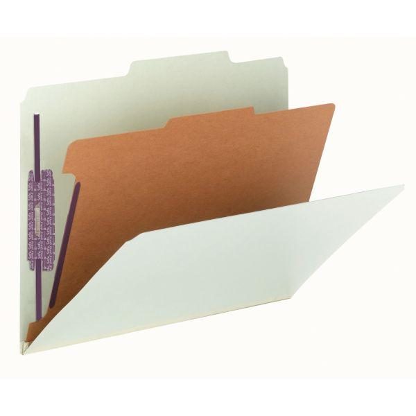 Smead Pressboard Classification Folder with SafeSHIELD Fasteners