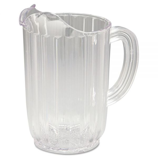 Rubbermaid Commercial Bouncer Plastic Pitcher, 32oz, Clear