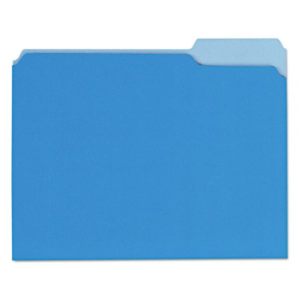 Universal Recycled Blue Colored File Folders